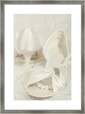 Sandals And Pearls Framed Print