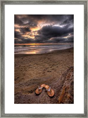 Sandals Framed Print by Peter Tellone