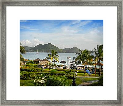 Framed Print featuring the photograph Sandals St. Lucia by Joe Winkler
