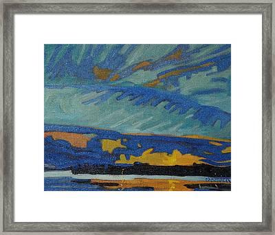 Sandbank Twilight Framed Print