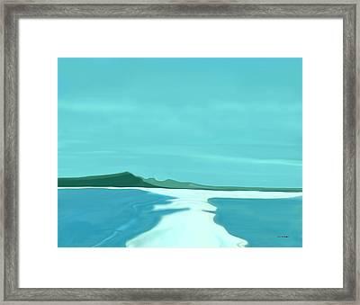 Sandbar Framed Print by Tim Stringer