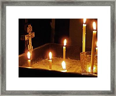 Sandbox Shrine Framed Print by Sarah Loft