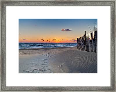 Sandbridge Dawn Framed Print