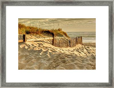 Sandbridge Morning Framed Print