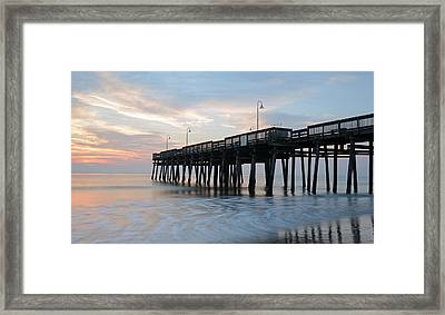 Sandbridge Pier Framed Print