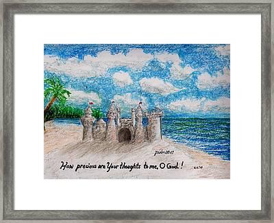 Sandcastle Framed Print by Catherine Saldana