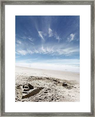 Sandcastle Framed Print by Les Cunliffe