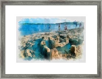 Sandcastle On The Beach Framed Print
