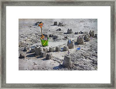 Sandcastle Squatters Framed Print by Betsy Knapp
