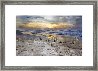 Sandcastle Sunrise Framed Print