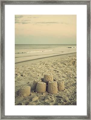Sandcastle - Vintage Framed Print