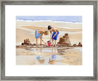 Sandcastles Framed Print by Anthony Forster