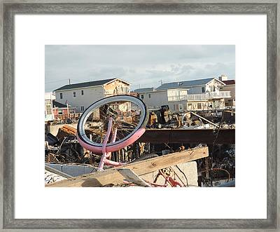 Sandee's Bike Framed Print by Laurence Van Oliver