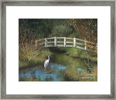 Sandhill Crane At Spring Creek Framed Print by Jeanette French
