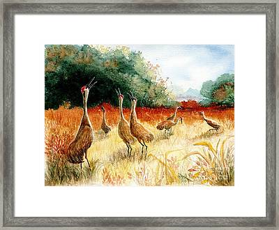 Sandhill Serenade Framed Print by Marilyn Smith