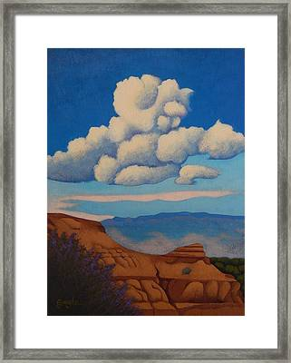 Sandia Clouds Framed Print