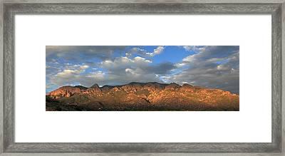 Sandia Crest At Sunset Framed Print by Alan Vance Ley