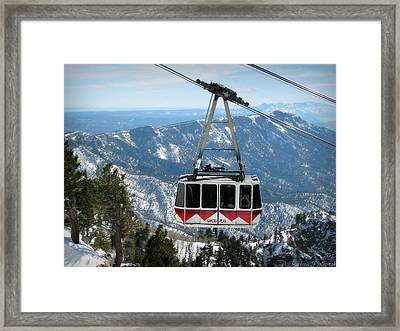 Sandia Peak Tramway Winter Framed Print
