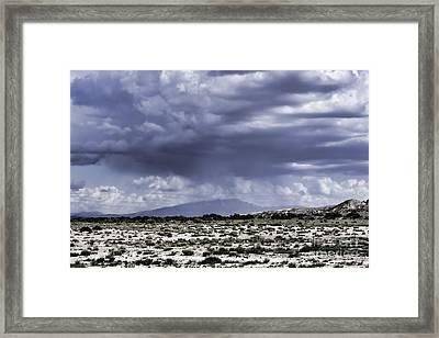 Sandia Rain Framed Print