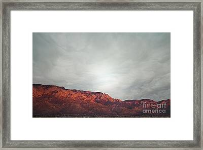 Sandia Watermelon Mountain Framed Print by Andrea Hazel Ihlefeld