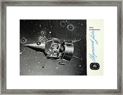 Sandman In Space Framed Print by Detlev Van Ravenswaay