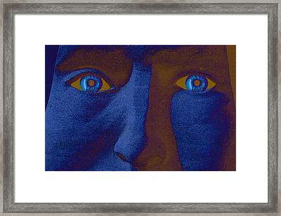 Framed Print featuring the digital art Sandman by Richard Farrington