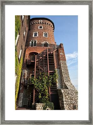 Sandomierska Tower At Wawel Castle In Krakow Framed Print by Artur Bogacki