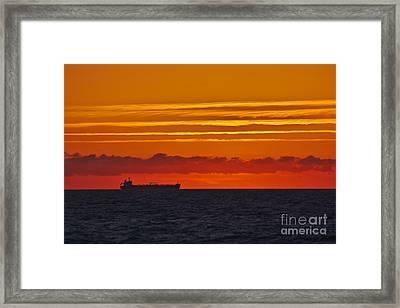 Sandown Sunrise Framed Print
