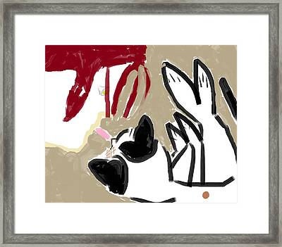 Sandpaper Kisses Framed Print by Anita Dale Livaditis
