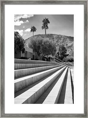Sandpiper Stairs Bw Palm Desert Framed Print by William Dey