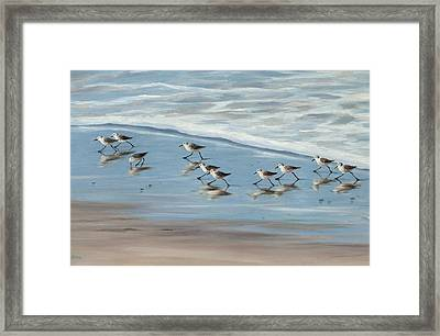 Sandpipers Framed Print by Tina Obrien