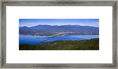 Sandpoint From Trail 3  -  110923-021 Framed Print