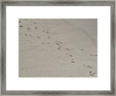 Sandprints Framed Print