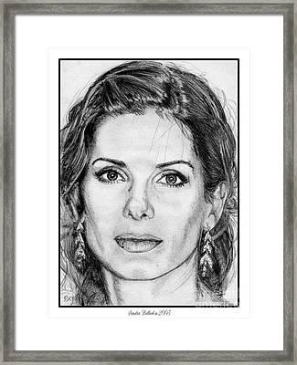 Sandra Bullock In 2005 Framed Print by J McCombie