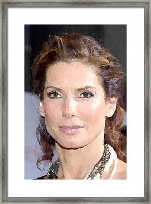 Sandra Bullock Portrait Framed Print