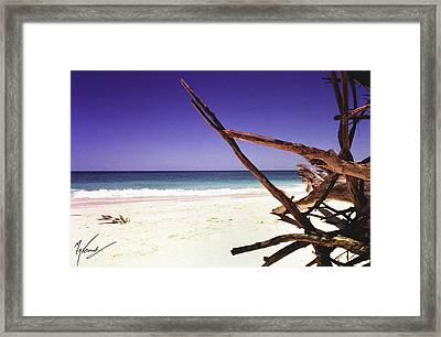 Sands Of Barbados Framed Print by Max CALLENDER