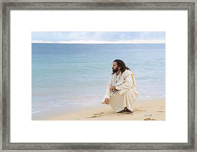 Sands Of The Sea Framed Print by Lois Colton