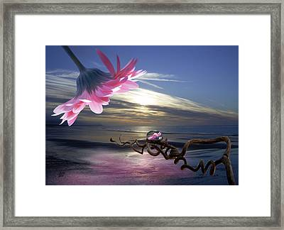 Sands Of Time Framed Print by Barbara St Jean