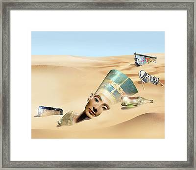 Sands Of Time Framed Print by Smetek