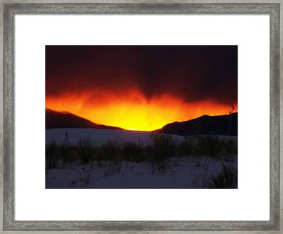Sands Sunset  Framed Print