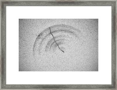 Framed Print featuring the photograph Sandscape No.1 by Gary Slawsky