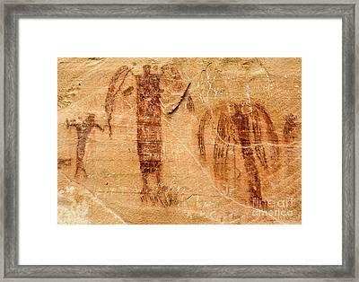 Sandstone Angels - Buckhorn Wash Pictograph Panel - Utah Framed Print