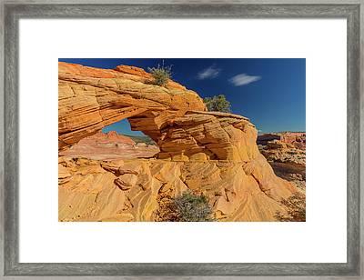 Sandstone Arch In The Vermillion Cliffs Framed Print by Chuck Haney