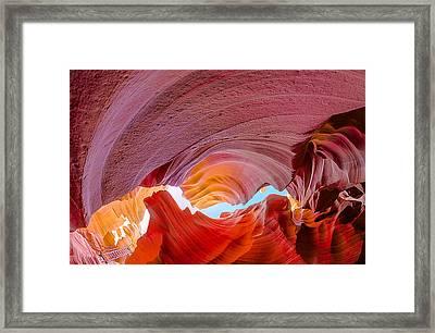 Sandstone Chasm Framed Print