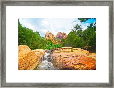 Sandstone Chute Oak Creek Sedona Framed Print