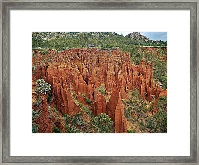 Sandstone Cliffs Framed Print by Liudmila Di