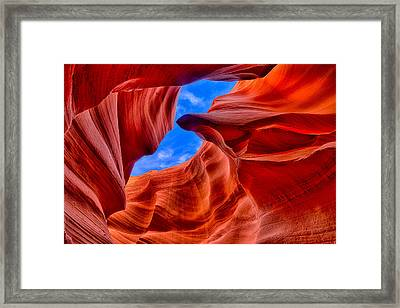 Sandstone Curves In Antelope Canyon Framed Print