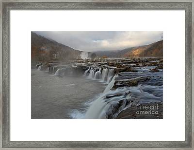 Sandstone Falls At New River Gorge Framed Print by Adam Jewell
