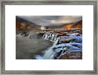 Sandstone Falls In Sandstone West Virginia Framed Print by Adam Jewell