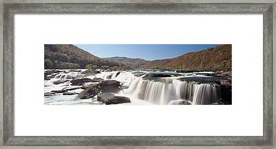 Sandstone Falls New River Gorge Wv Usa Framed Print by Panoramic Images